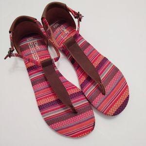 Toms Playa Tribal Woven Thong Sandals 8.5